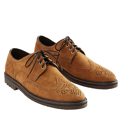Safari Suede Wingtip Shoes