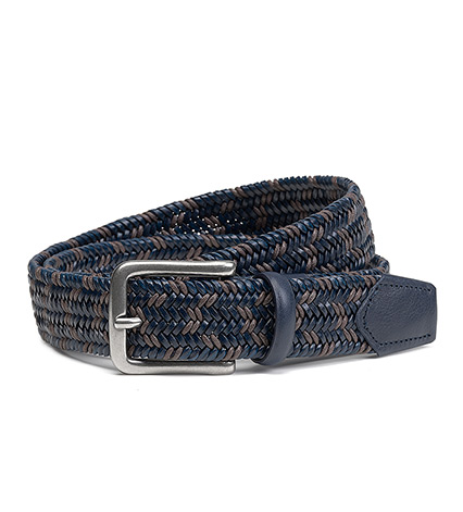 Woven Wool-Leather Belt