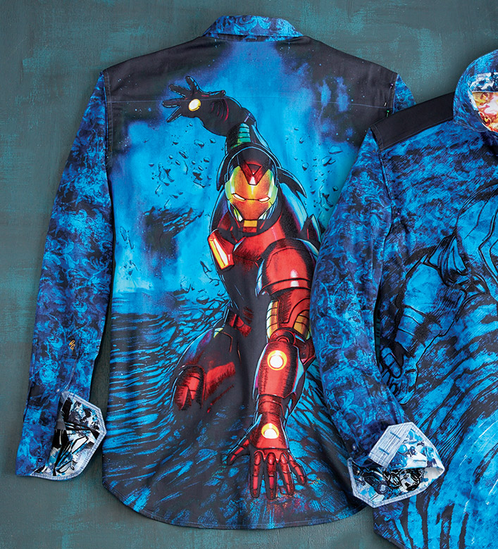 Robert Graham X Marvel Extremis Armor Iron Man Sport Shirt