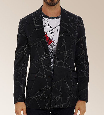 Spider Sence Tonal Embroidered Spider Man Limited Edition Sport Coat