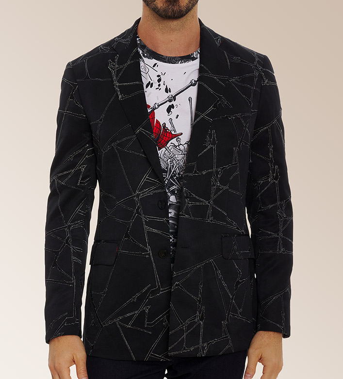 Robert Graham X Marvel Spider Sence Tonal Embroidered Spider Man Limited Edition Sport Coat