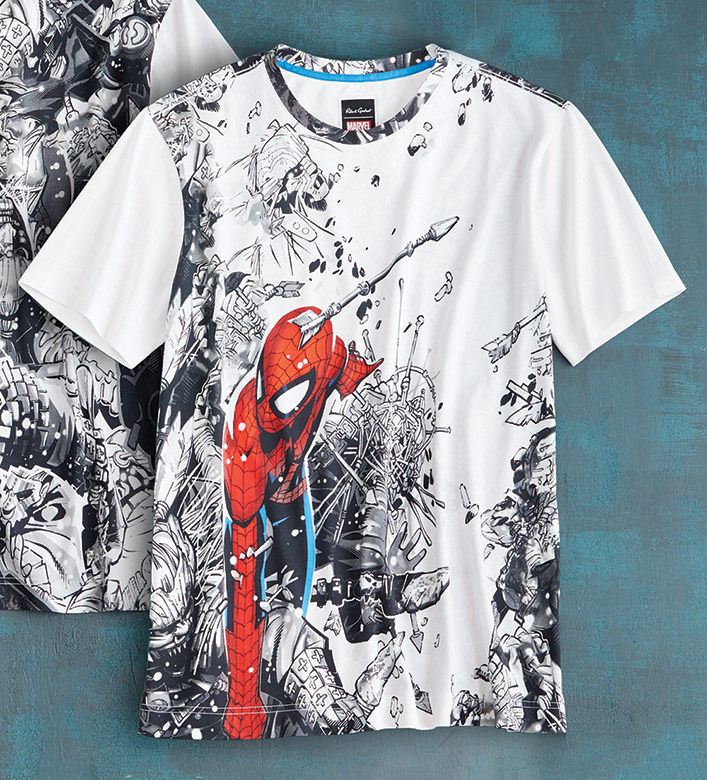 Robert Graham X Marvel Spidey Battle Tee Shirt