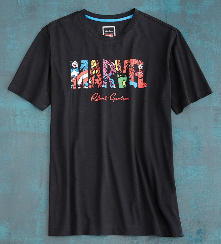 Robert Graham X Marvel Team Up Tee Shirt