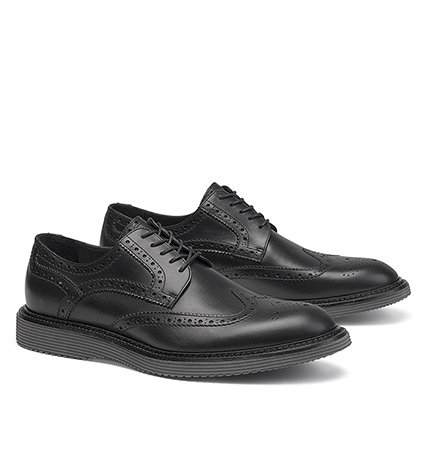Black Rogan Wingtip Shoes