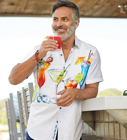 Cocktail Party Short Sleeve Sport Shirt