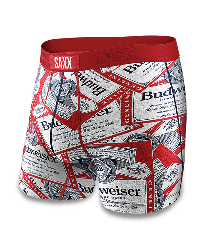 SAXX Budweiser™ Bud Tossed Label Vibe Boxer Briefs