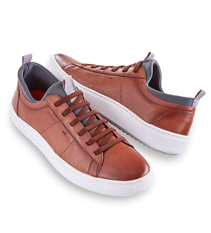 Whiskey Cameron Leather Sneaker
