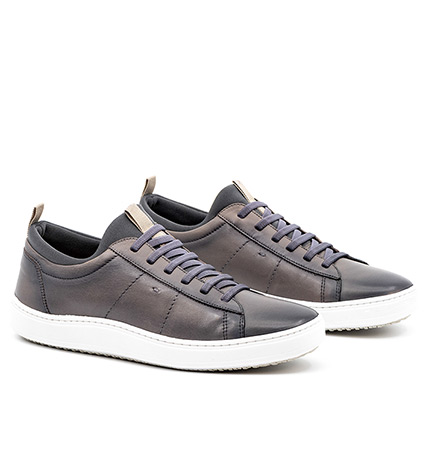Slate Cameron Leather Sneakers