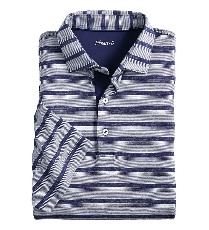 Johnnie-O Rochdale Stripe Prep-Formance Short Sleeve Polo Shirt