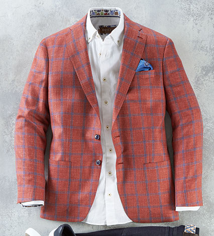 Red Windowpane Sport Coat