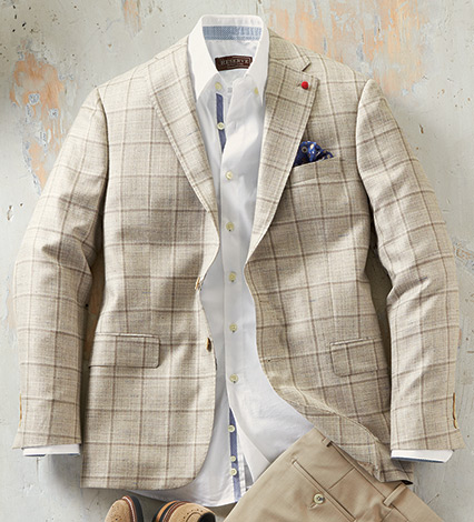 Windowpane Sport Coat