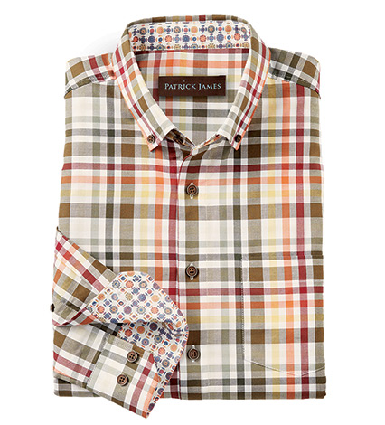 Plaid Long Sleeve Sport Shirt