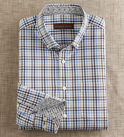 Long Sleeve Check Sport Shirt
