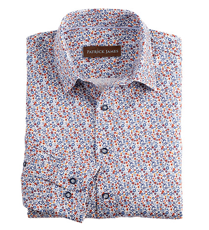 Mini Floral Long Sleeve Sport Shirt