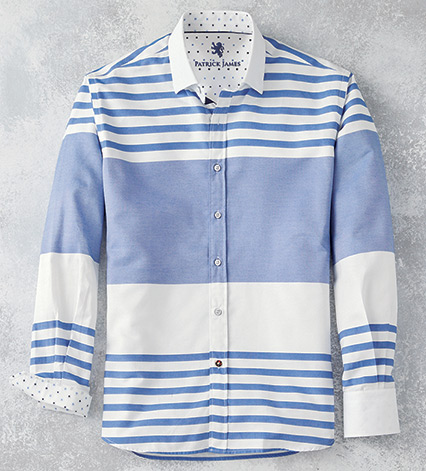 Horizontal Stripe Long Sleeve Sport Shirt