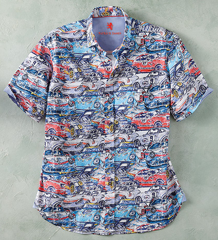 Race Cars Short Sleeve Sport Shirt