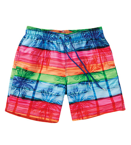 Tropic Palms Colorblock Swim Trunk