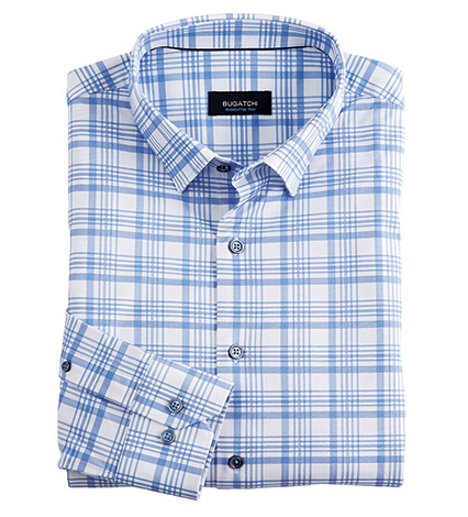 Performance Plaid Long Sleeve Sport Shirt