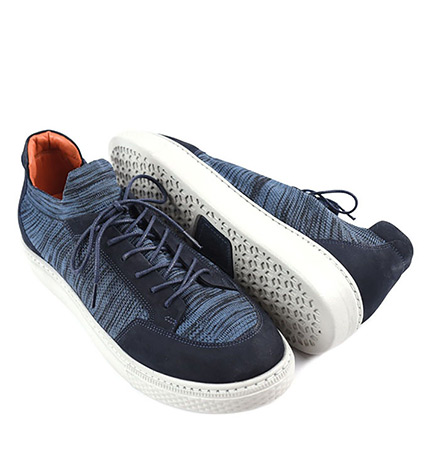 Navy Chance Knit Sneakers