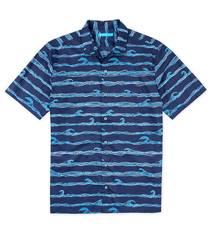 Amplitude Waves Short Sleeve Camp Shirt
