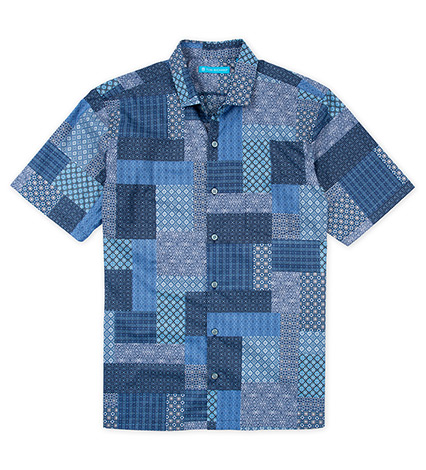 Lisbon Tiles Short Sleeve Camp Shirt
