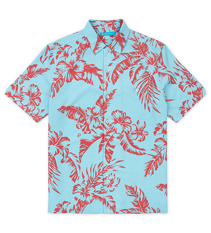 Umbra Hibiscus Short Sleeve Camp Shirt