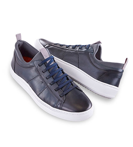 Navy Cameron Leather Sneaker
