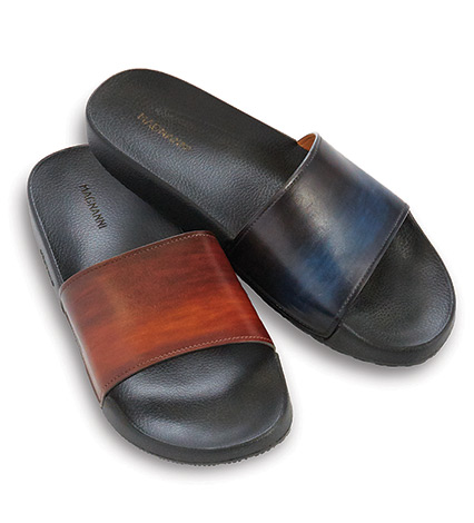 Playa Leather Slides