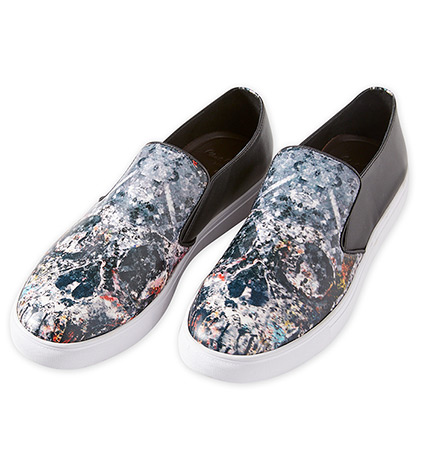 Turney Skull Leather Slip-On Shoes