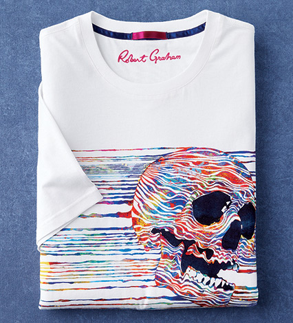 Magic Brush Skull Short Sleeve Tee Shirt