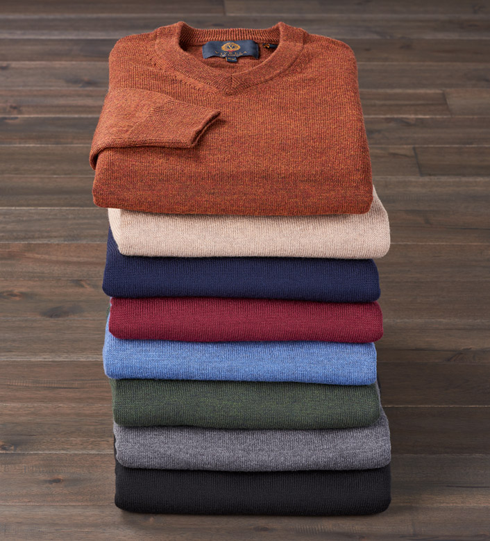 Viyella V-Neck Pullover Sweater
