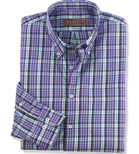 Reserve Long Sleeve Hampton Plaid Shirt