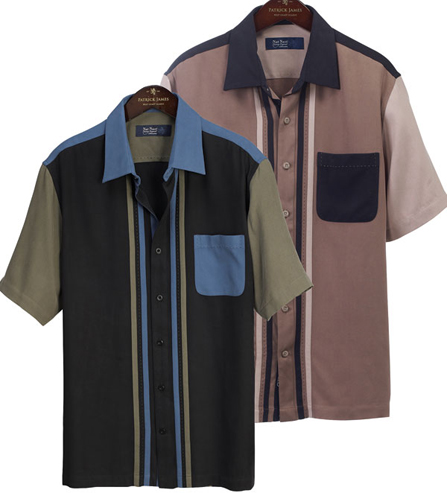 Nat Nast Short Sleeve Improv Silk Patch Shirt