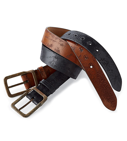 torino aged harness leather belt