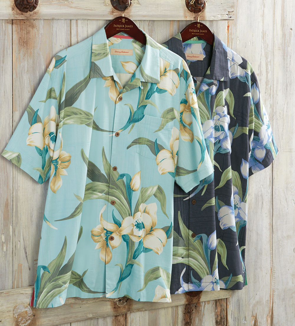 Tommy bahama the grand floralscape short sleeve silk camp for Tommy bahama short sleeve silk camp shirt