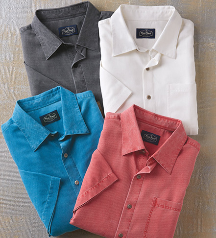 Nat Nast Havana Cloth Short Sleeve Sport Shirt