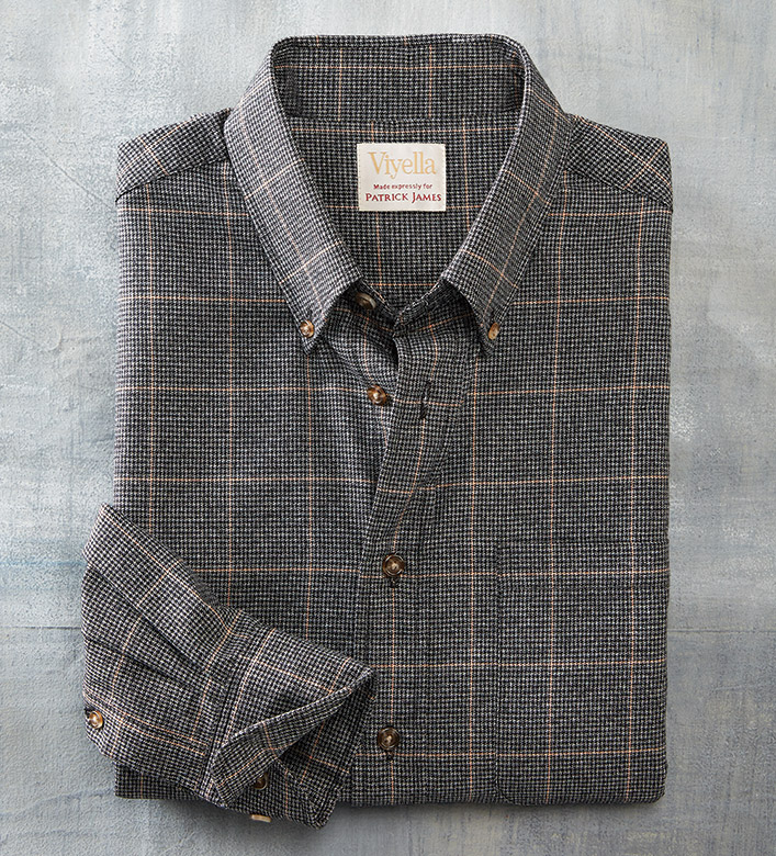 Viyella Long Sleeve Mini-Check Windowpane Sport Shirt