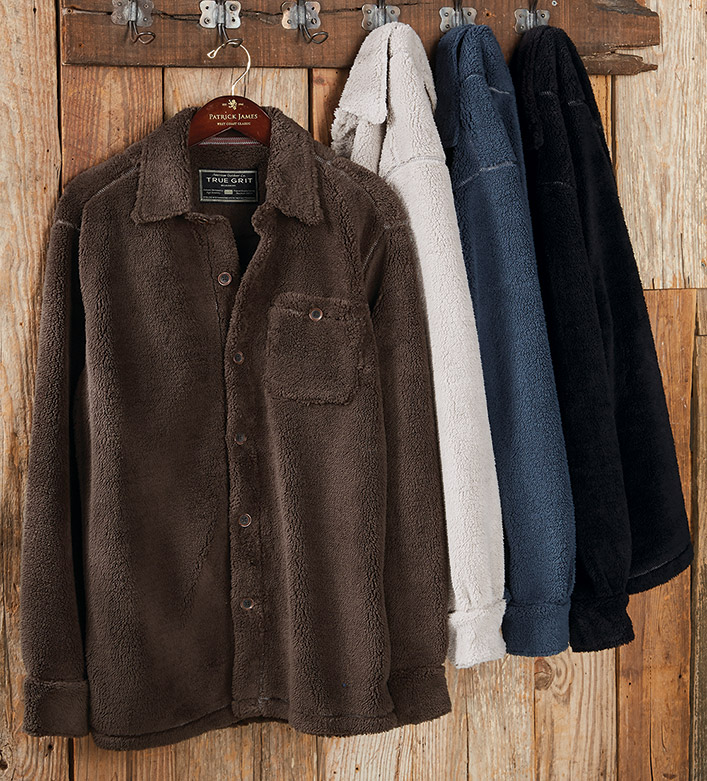 True Grit Sueded Soft Sherpa Big Overshirt