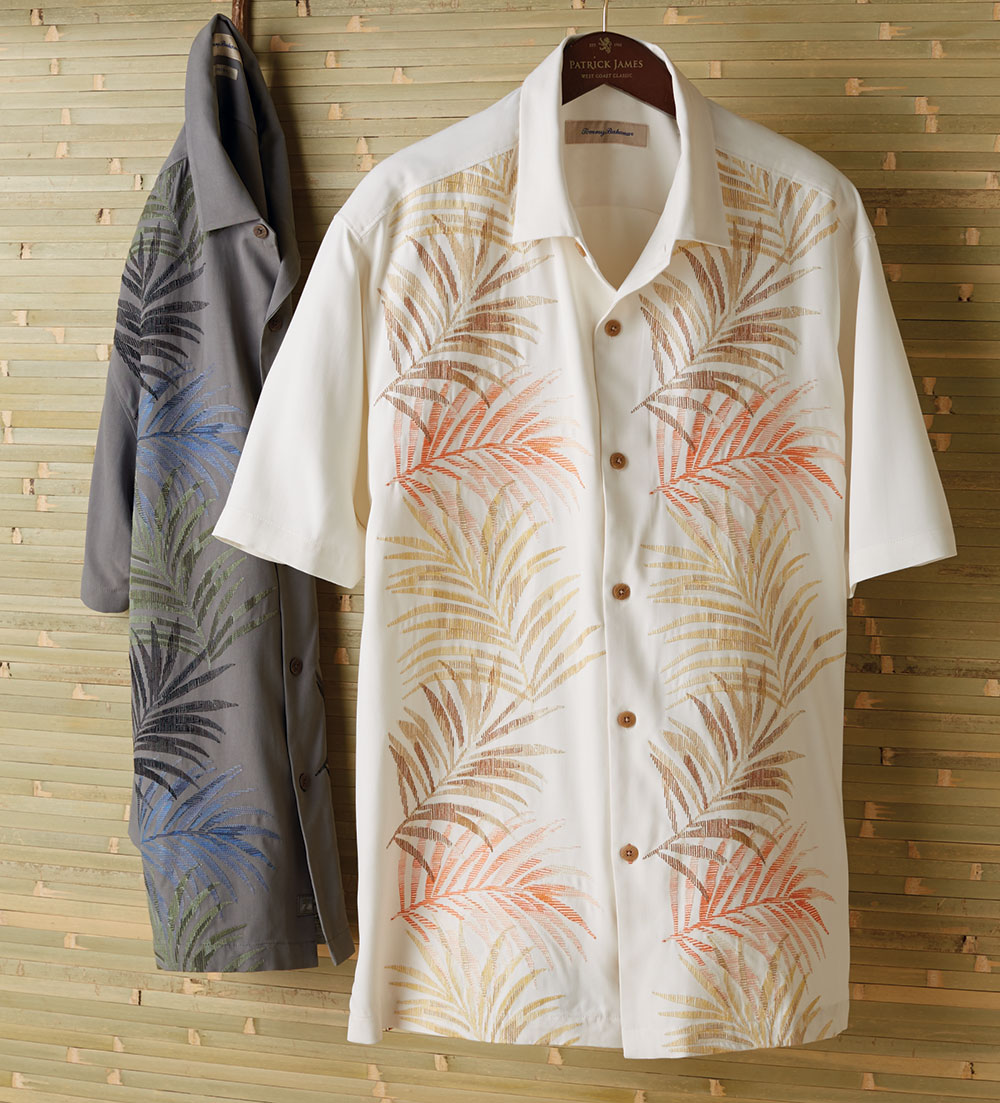 Tommy bahama under the tuscan frond embroidered silk short for Tommy bahama embroidered silk camp shirt