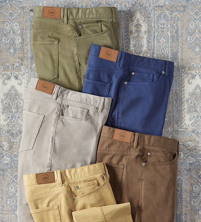 Peter Millar Crown Stretch Sateen Jeans