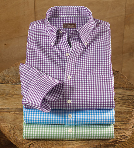 Reserve Nanoluxe Twill Check Long Sleeve Sport Shirt