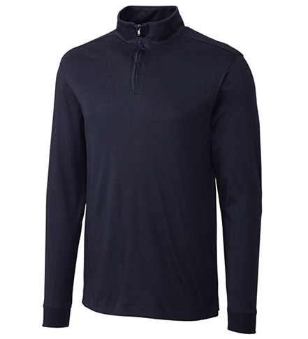 Cutter & Buck Long Sleeve Belfair Pima Half-Zip Pullover