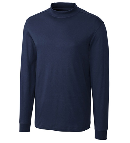 Cutter & Buck Long Sleeve Belfair Pima Mock Neck Pullover