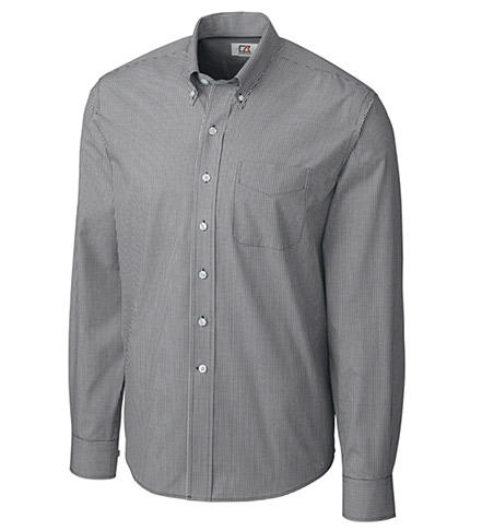 Cutter & Buck Long Sleeve Epic Easy Care Gingham Sport Shirt