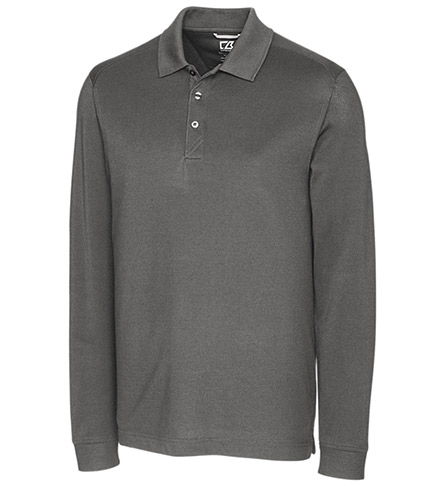 Cutter & Buck Long Sleeve Drytec Cotton+ Advantage Polo