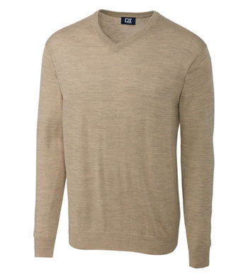 Douglas Washable Merino Blend V-neck Sweater