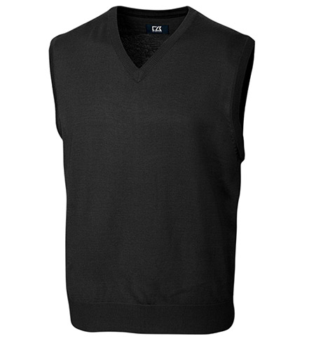 Cutter & Buck Douglas Washable Merino Blend V-Neck Sweater Vest