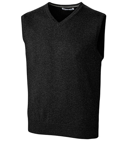 Cutter & Buck Lakemont Cotton Blend V-neck Sweater Vest