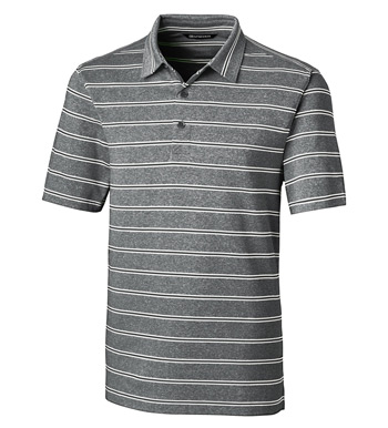 Forge Heather Stripe Short Sleeve Polo Shirt