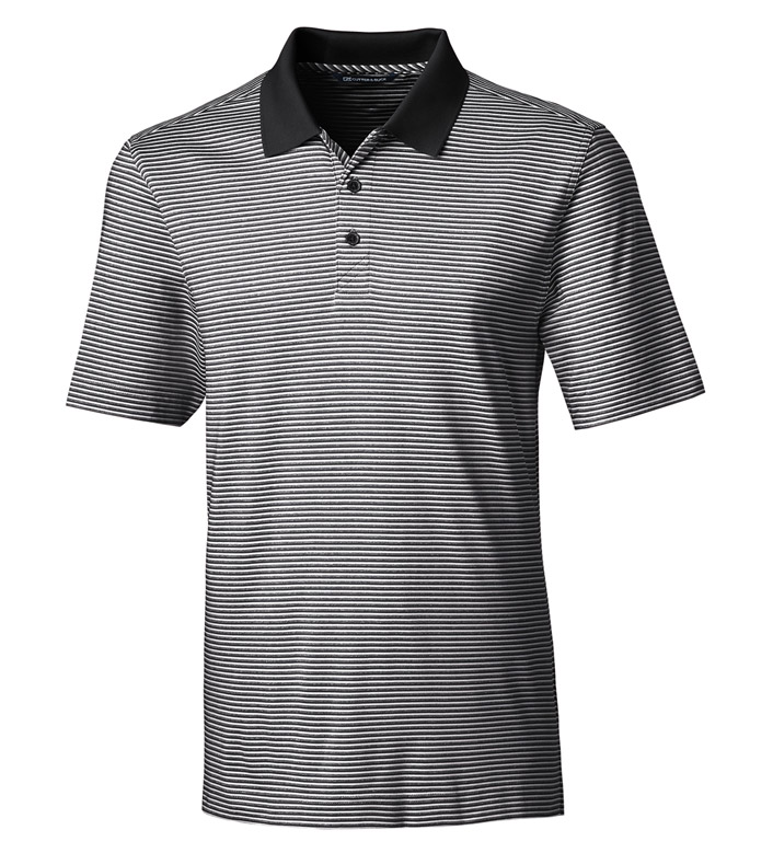 Cutter & Buck Forge Tonal Stripe Short Sleeve Polo Shirt
